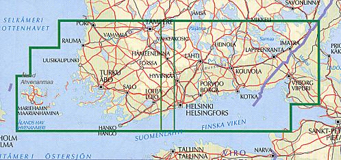 carte Finlande du sud