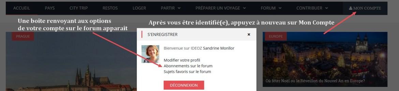 boite identification forum voyage ideoz