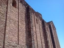 Eglise Saint Vincent de Cardona de l'extérieur vue de la nef centrale