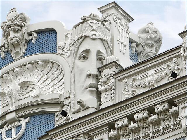 Riga Immeuble Art nouevau 19 Strelnieku iela réalisé par Eisenstein