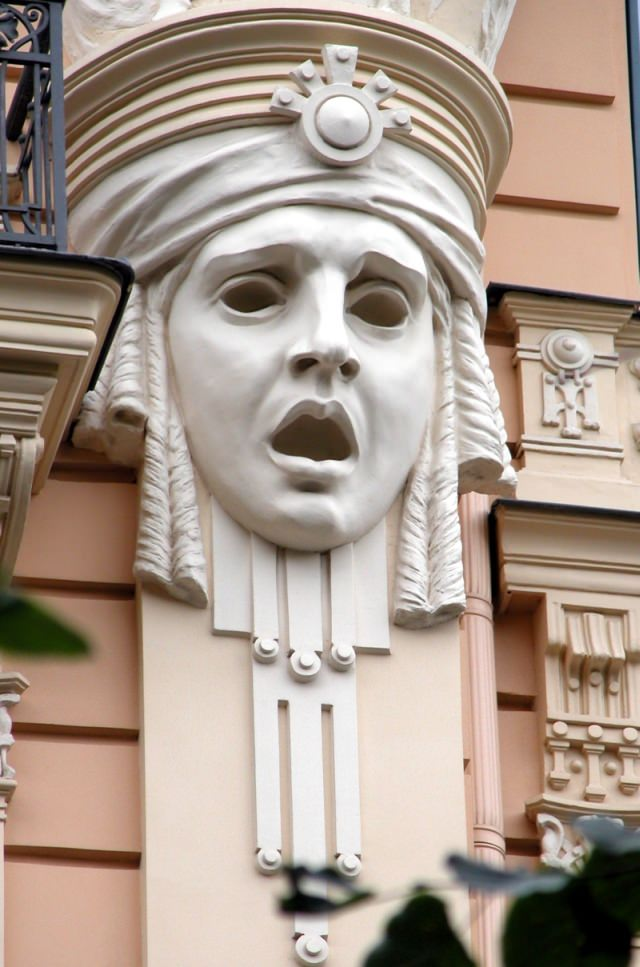 Riga Jugendstil ornement Art Nouveau d'Eisenstein