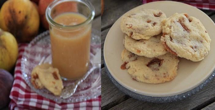 compote de pommes et cookies au daim