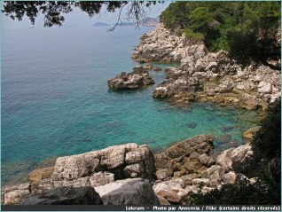 lokrum crique mer ile croatie