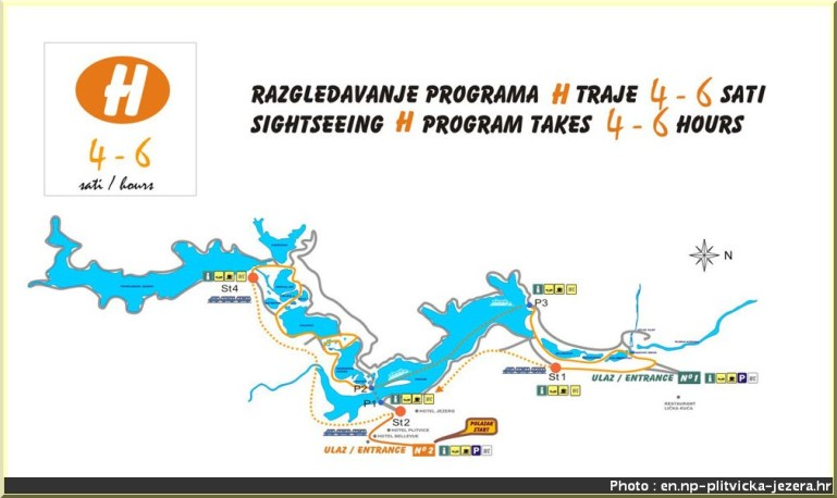 plitvice plan carte 4-6h