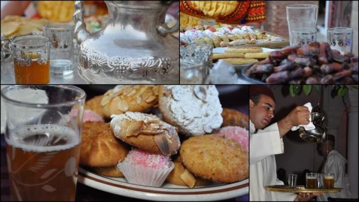 thé menthe gateaux marocains