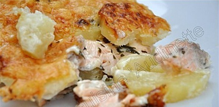 gratin suedois saumon pommes de terre