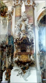 Abbaye Ottobeuren detail chaire