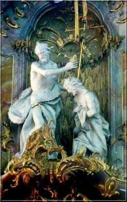 Abbaye Ottobeuren statue chaire