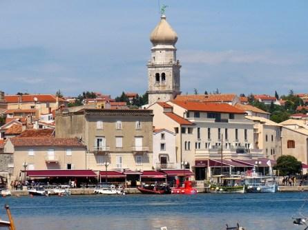 Krk clocher et port