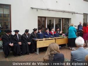 Vilnius remise de diplomes à l'Université