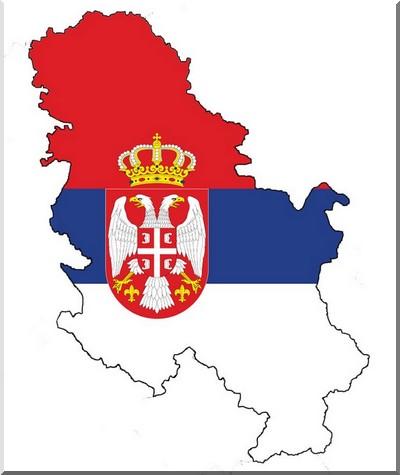 carte serbie drapeau
