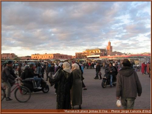 marrakech place Jemaa El Fna