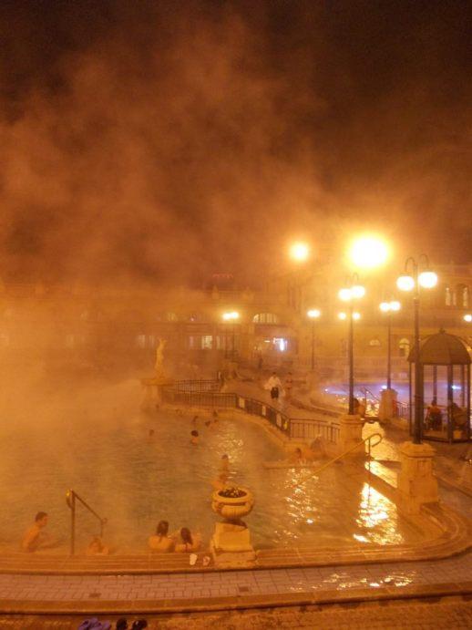 budapest bain chaud en hiver