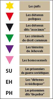 catégories déportés auschwitz