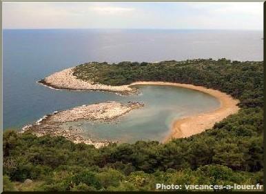 saplunara plage de rêve sur l'île de mljet