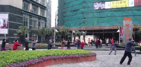 taichi matinal shanghai personnes agees