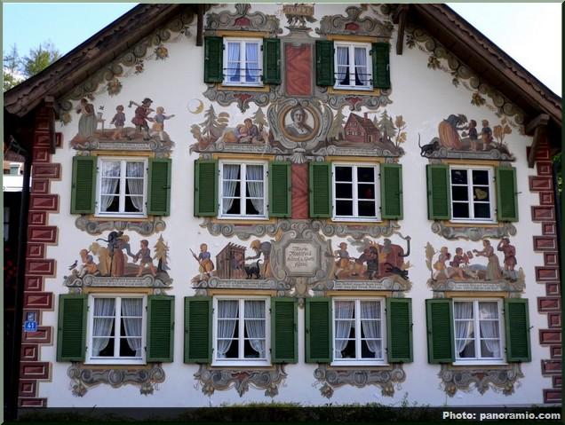 oberammergau maison facade peinte