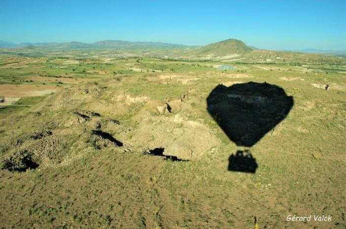 Aperçu de la Cappadoce en ballon