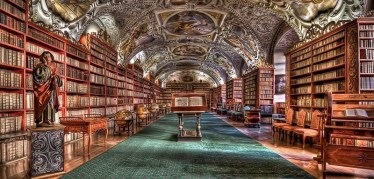 Bibliothèque-du-monastère-de-Strahov-à-Prague