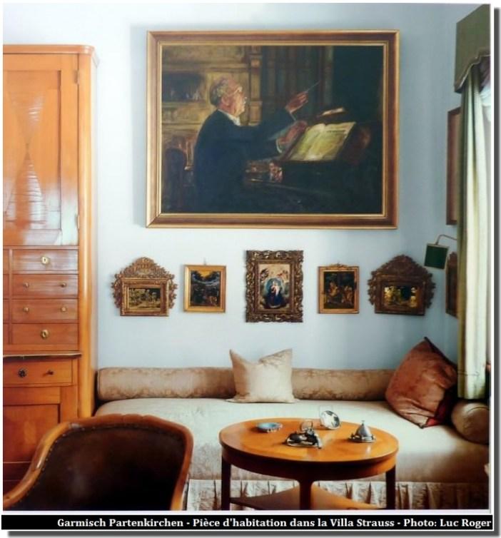 Garmisch Partenkirchen Villa richard Strauss pièce d'habitation
