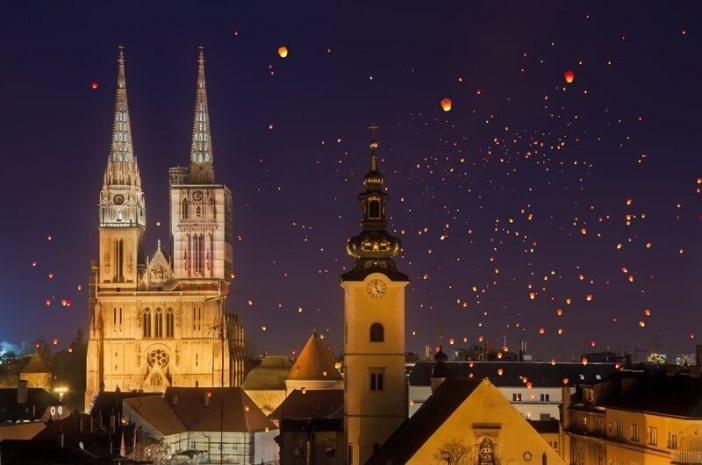 Lampions Zagreb fetes de fin d'année