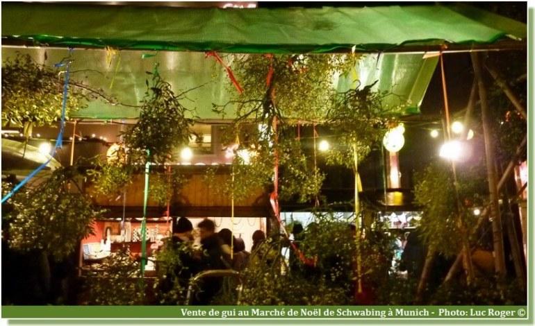 Marché de Noel de Schwabing Munich vente de gui