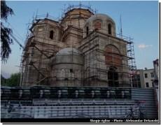 Skopje eglise en travaux