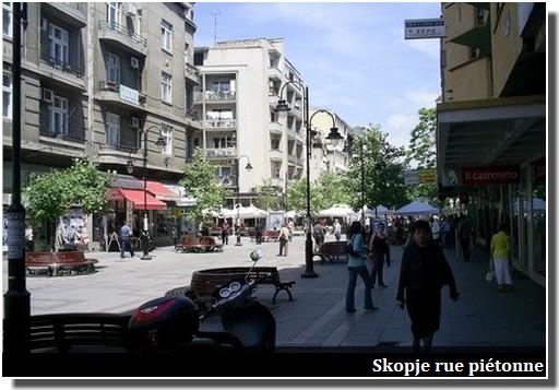 Skopje rue pietonne