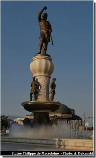 Skopje statue de Philippe de Macédoine