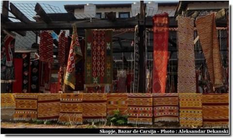 Skopje tapis dans le bazar