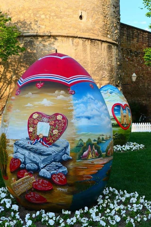 oeufs décorés à Zagreb