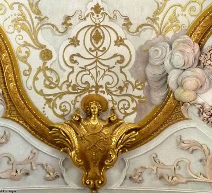 Ange détail du plafond abbaye de Rohr