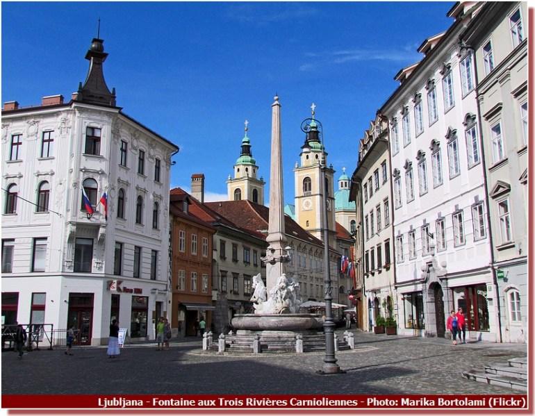 Ljubljana Fontaine aux Trois Rivières Carnioliennes