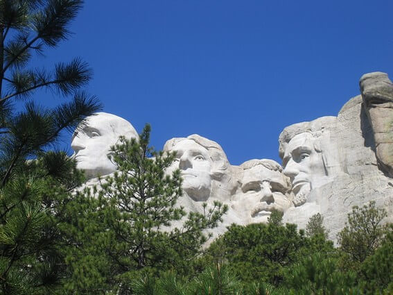 Mount Rushmore National Memorial Statues des présidents