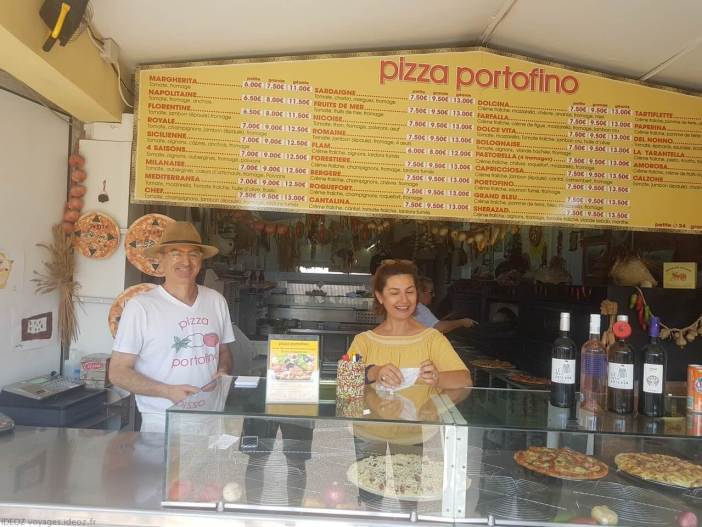 Pizza portofino à Port la nouvelle les patrons Patrick et Patrizia
