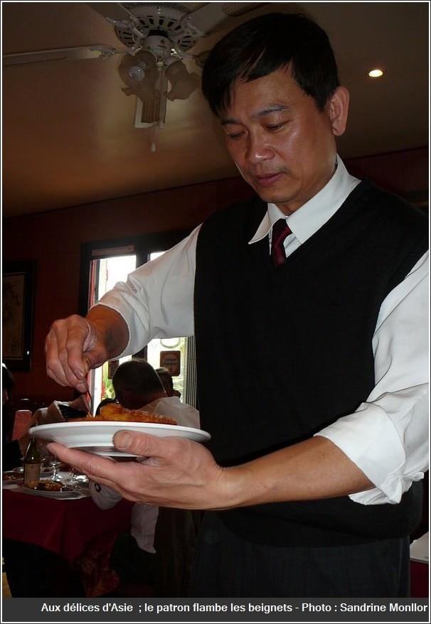 Restaurant Aux délices d'asie auzeville tolosane flamber les beignets