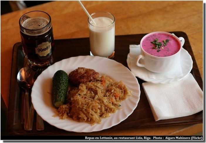 Riga restaurant Lido repas letton