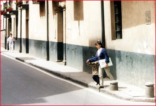 bogota colombie rue une femme colombienne