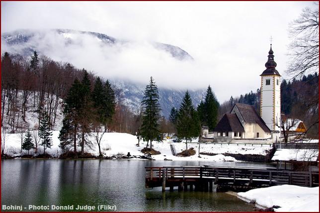 bohinj slovenie en hiver