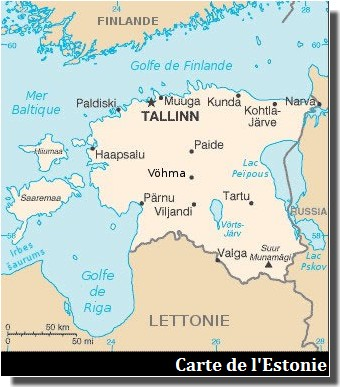 carte estonie