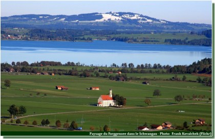 paysage baviere lac forggensee