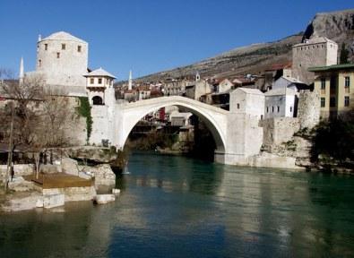 Pont de mostar en Bosnie Herzégovine