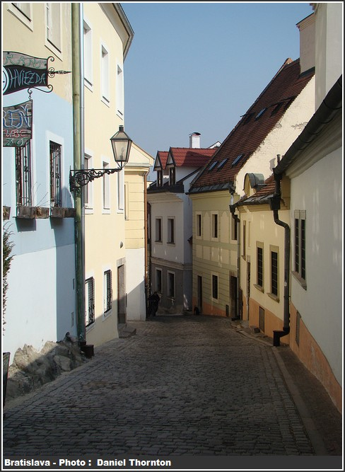 Bratislava Rue pavée