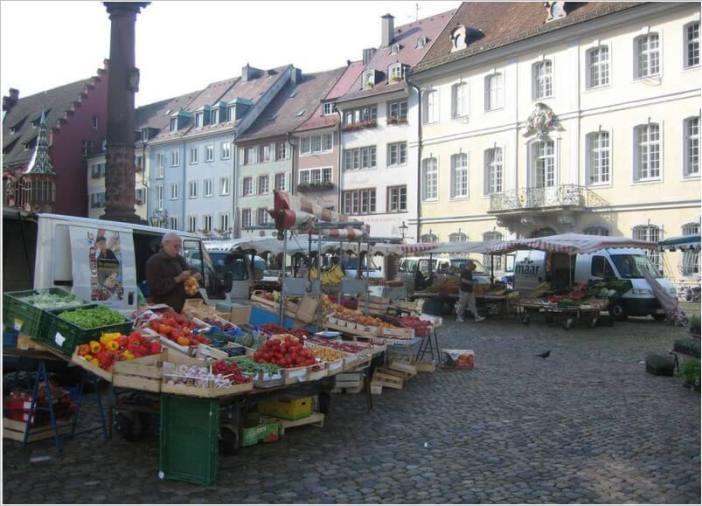 Fribourg petit marché en Allemagne