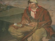 Musee Gjirokaster tableau combattant