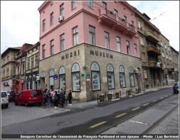 Sarajevo carrefour de l'assassinat de François Ferdinand et son épouse