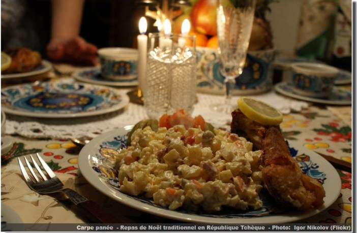 carpe panée repas de noel tcheque
