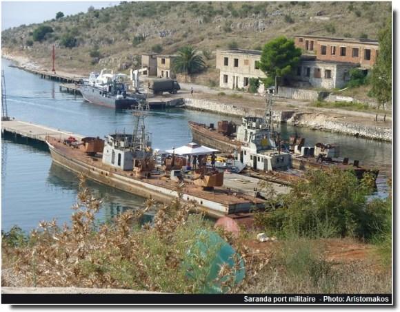 Saranda port militaire