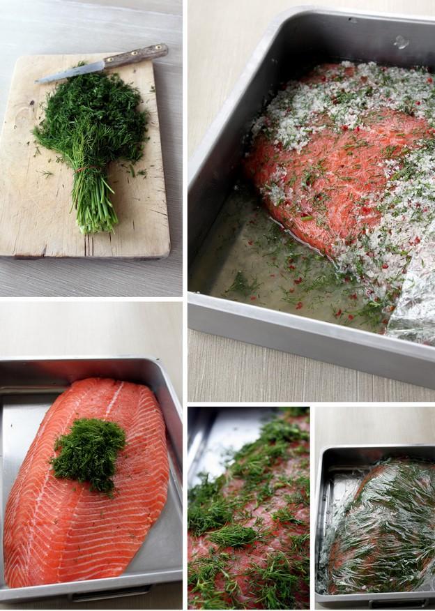 saumon gravlax a la suedoise