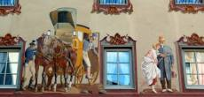 Mittenwald facade décorée carrosse